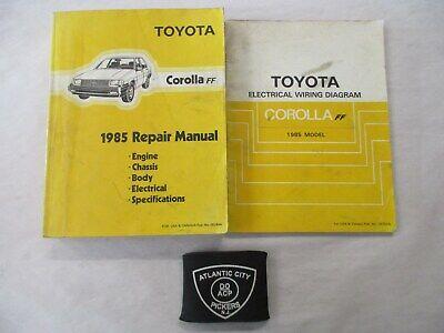 1985 Toyota Corolla Ff Service Repair Electrical Wiring Diagram Manual Ebay