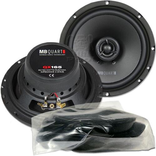 MB QUART QX 165 CF 16,5cm Koax Lautsprecher Paar für Hyundai i20 ab 2015 Tür