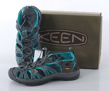 NIB Keen Whisper Women's 7 MED Sandals Water Shoes Hiking 1003717 Grey/Ceramic