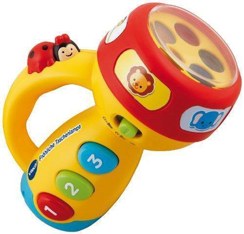 Ab 12 Monate Baby Kinder Sound Taschenlampe Farben Tiere und Leuchtfunktion