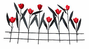 TULIPS-black-red-Metal-Wall-Art-Suitable-for-Indoor-and-Outdoor-Use-82-cm-new