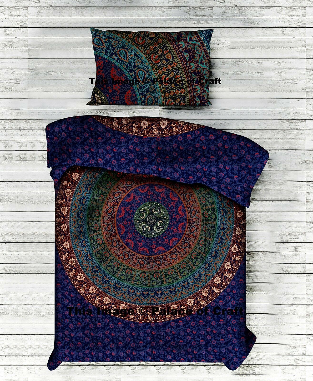 Indian Traditional Bedding Set Mandala Duvet Doona Quilt Cover With Pillow Slips