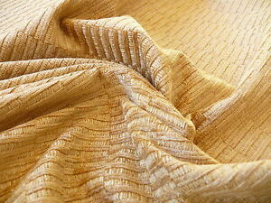 SCALAMANDRE DONALD TEXTURE GOLD RAYON CHENILLE JACQUARD MSRP $140/y BTY