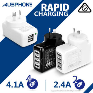 Speed-4-1AUSB-Wall-AC-Charger-Home-Plug-Adapter-iPhone-XS-Max-XR-iPad-Samsung-S9