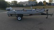 Alumacraft 14 Fishing Boat With Evinrude 6 Hp Outboard Motor And Trailer