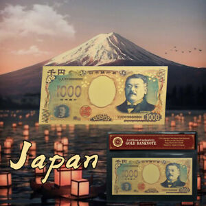 WR-Japan-1000-Yen-Gold-Foil-Banknote-Note-Bill-For-Collection-In-Sleeve
