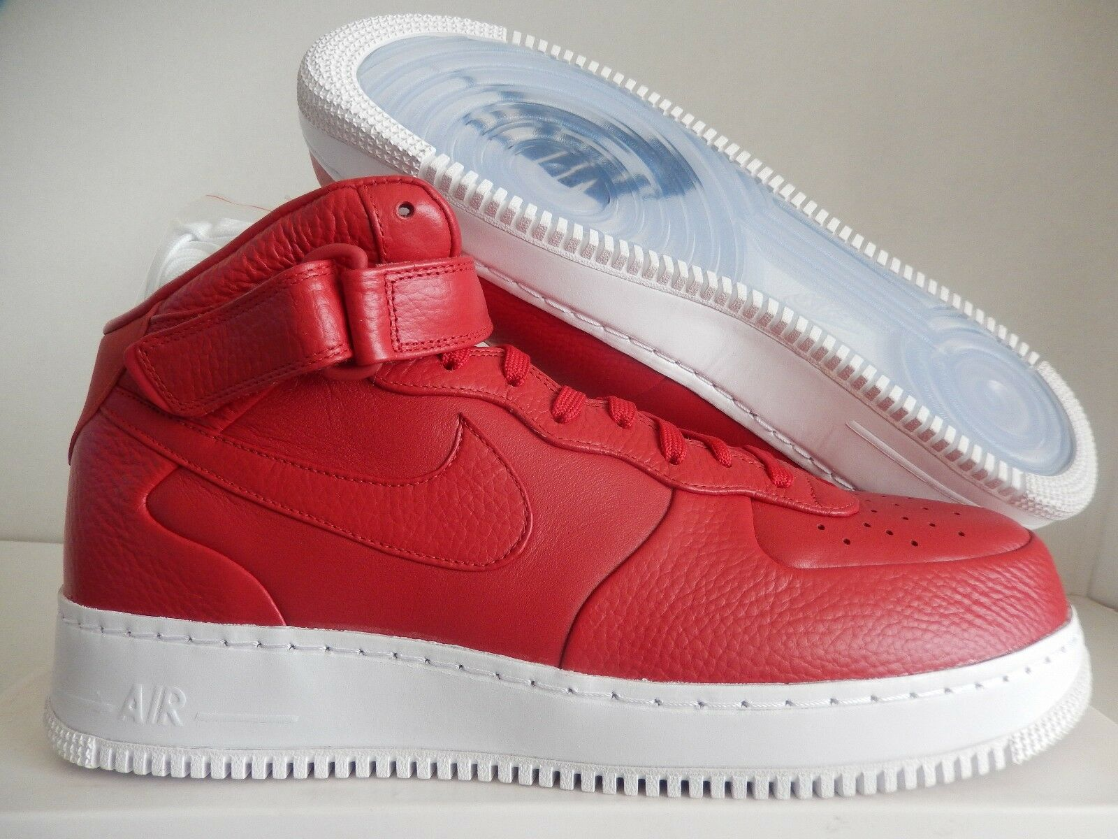 NIKELAB AIR FORCE 1 MID GYM RED-WHITE Price reduction