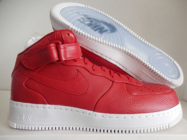 NikeLab Air Force 1 Mid Gym Red white Sz 12 819677 600 eBay