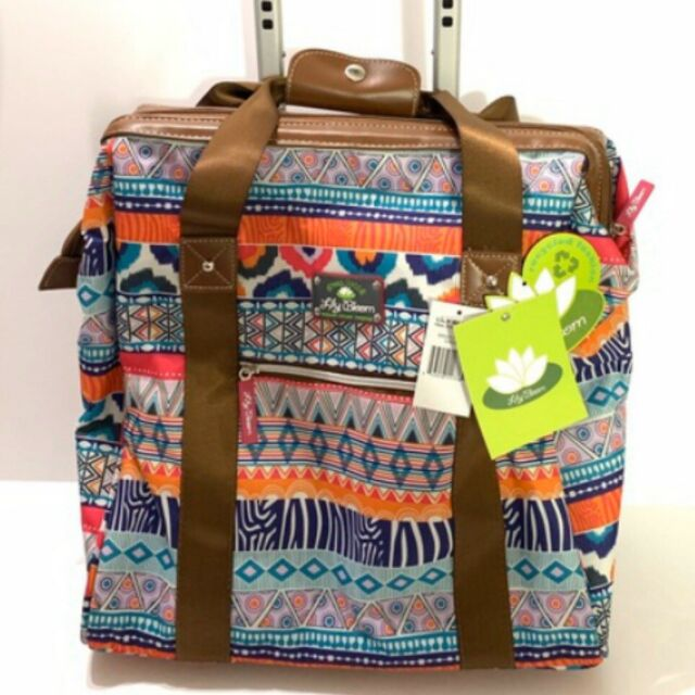 Orange Lilies Travel Carry Luggage Duffle Tote Bag