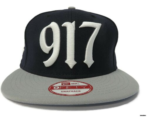 Navy // Grey // White New Era 917 /'New York Yankees/' Adjustable Snapback