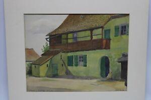 Gustav-Mueller-Aquarell-Bauenhaus-1934