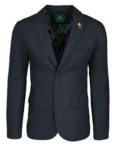 Giacca-uomo-in-lino-Classic-nera-elegante-2-bottoni-blazer-man-039-s-Jacket