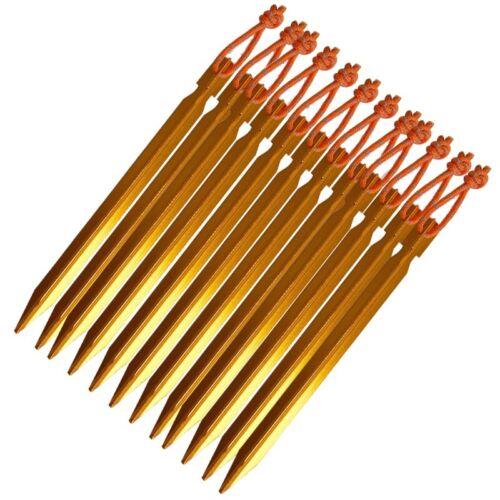 10x Zeltnägel Heringe 18 cm Erdnagel Sandheringe Zelthering Zeltnagel jY