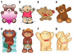 Image Is Loading Teddy Bear Stickers Wall Decoration Diy Arts Amp