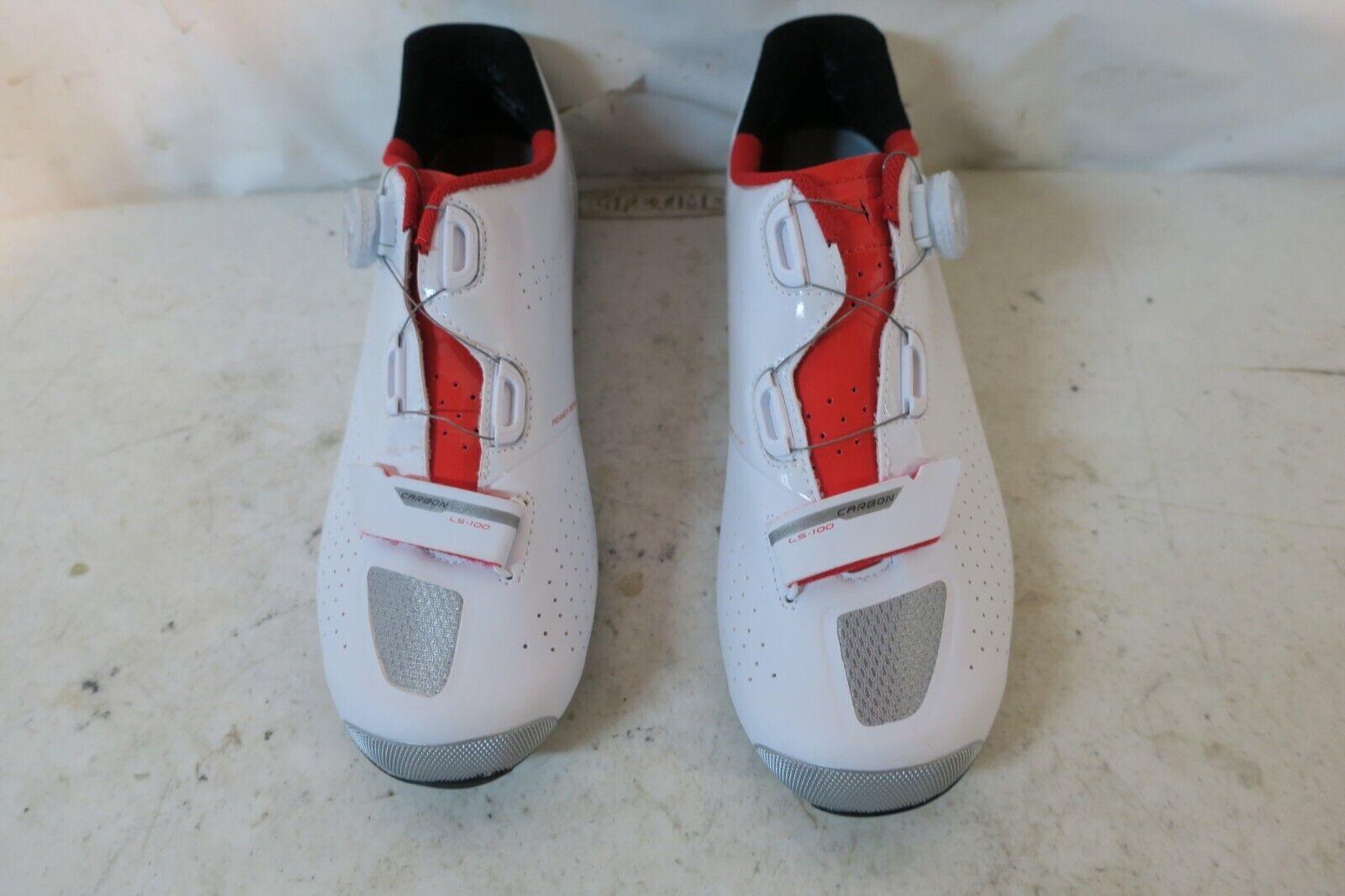 Calzado ciclista masculino 43,5 US 9,75 blancoo   jengibre rojo