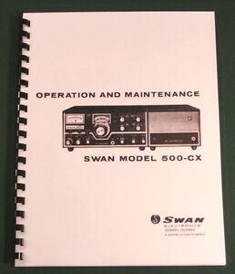 swan 500 cx instruction manual 11 x 24 foldout schematic rh ebay com Swan 500Cx Specs Swan 500Cx Specs