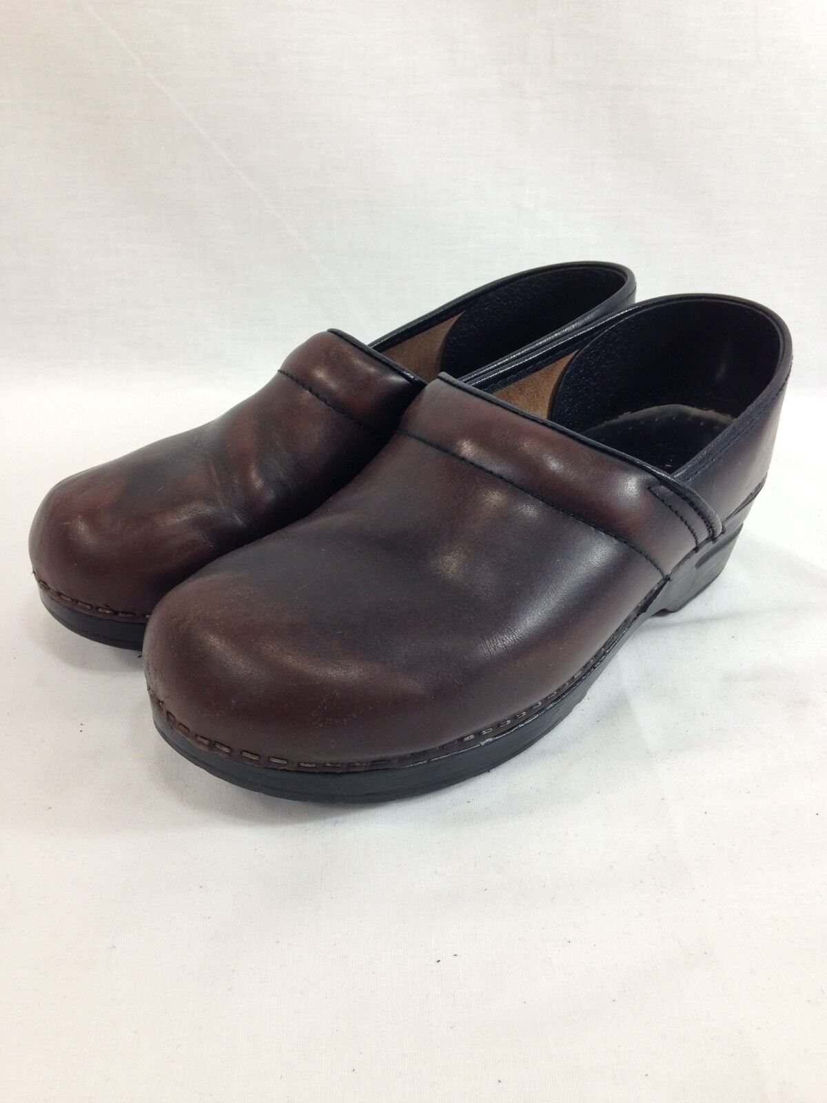 Dansko Shoes Womens US 9.5 Brown Leather Slip On Comfort Clog Occupational