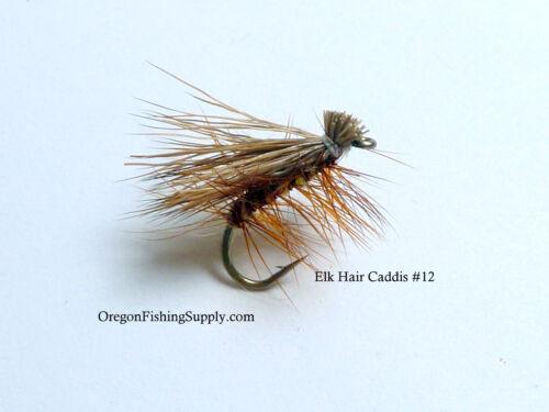 Taille 12 livraison gratuite sur tous les objets supplémentaires 6 vol Elk Hair Caddis