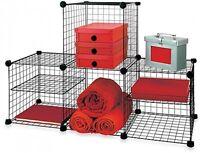 Storage Cubes Grid Wire Modular Shelving Adjustable Shelf Space Dorm Bedroom
