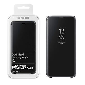 new styles 51cfe 77409 Details about Genuine Samsung Clear View Semi-Transparent Case Cover Stand  For Galaxy S9 Black