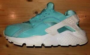 Girls-sz-3-5Y-EUR-35-5-Nike-Air-Huarache-Run-Shoes-Aqua-AV5104-300