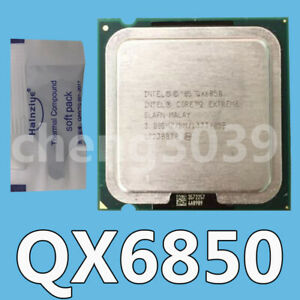 Details about Intel Core 2 Extreme QX6850 3 GHz 1333 MHz 8MB LGA775  CPU-Processor