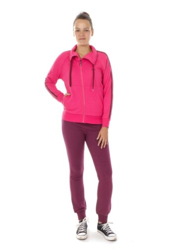 CMP Tracksuit Leisure Suit Pink Collar Drawstring Bags Casual
