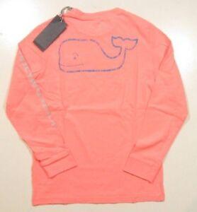 7239a294e5e Vineyard Vines Boy s Coral Sand Garment Dyed Wash Vintage Whale L S ...