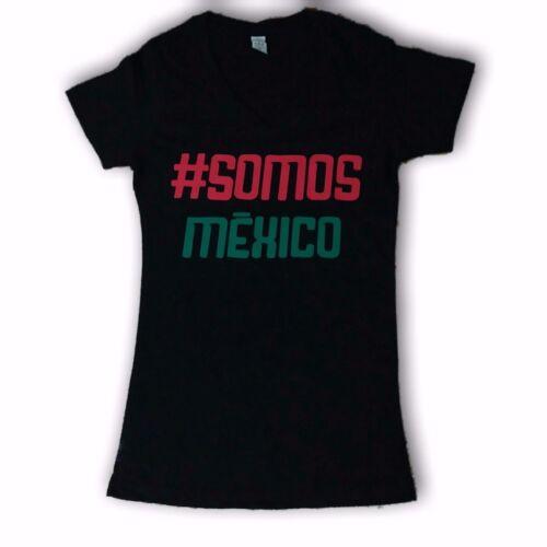 Mexico Soccer Women's Black V-Neck T-Shirt #Somos Mexico