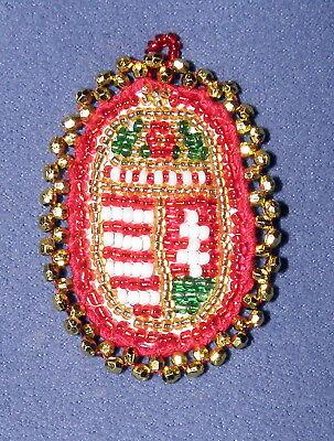 Wappen Ungarn Volkskunst Handarbeit Perlen Hungary Transylvania Coat Of Arms Reichhaltiges Angebot Und Schnelle Lieferung