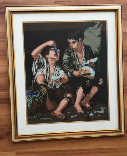 """Begger Boys Eating Grapes & Melon"" by Bartalome Murillo Needlework 269"