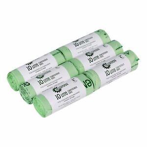 10 L X 150 All-vert Sacs Compostables Pour Cuisine Caddy-en13432 Caddy Liners-afficher Le Titre D'origine