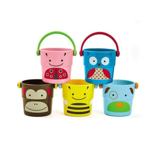 Skip Hop Zoo Stack and Pour Buckets Bath Toy **FREE DELIVERY**