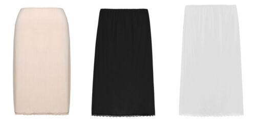 M/&S Cool Comfort Short Waist Slip Black Almond White UK 8-18 Mini or Knee Length