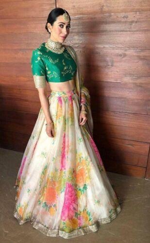 Bollywood Indian Pakistani Lehnga Karishma Floral Wedding Wear Lehenga Choli Set