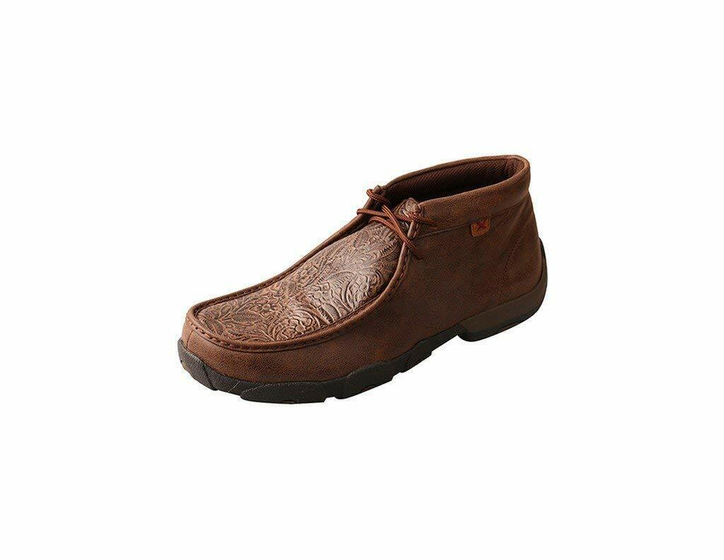 Twisted X Men'S Driving Moccasins, color   Brown Brown Print (Mdm0059)  enjoying your shopping