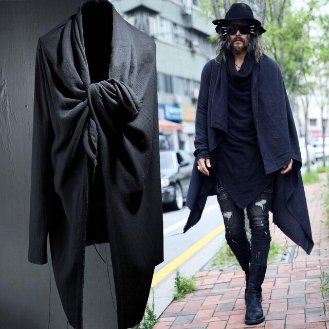 Men's BytheR Alternative Frayed Cardigan ONE SIZE COLOR BLACK P000BFAS N
