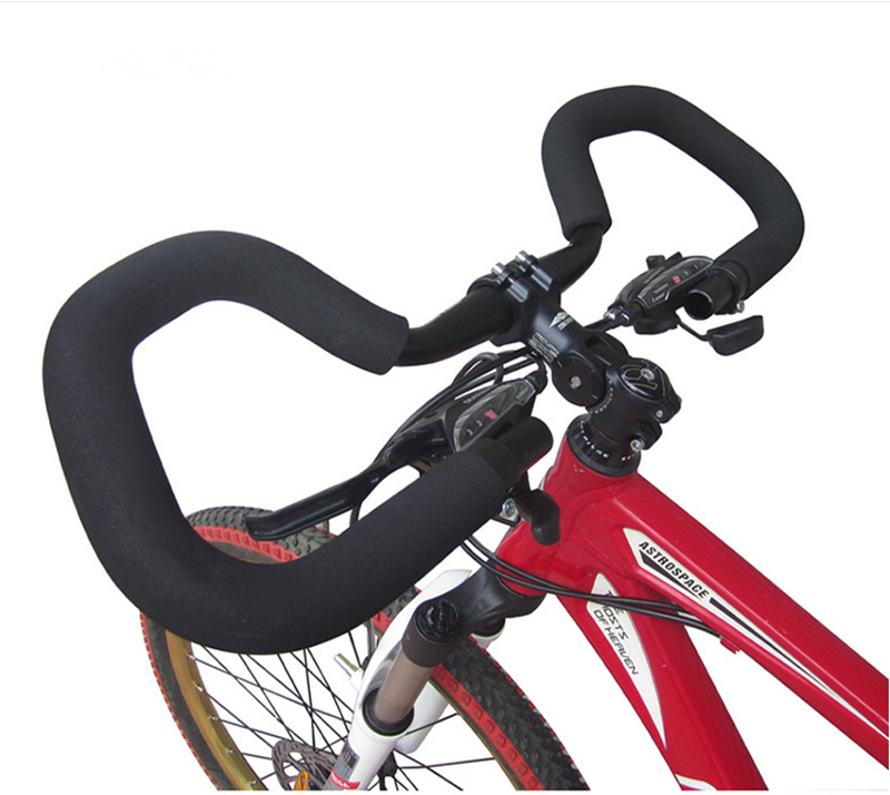 25.4//31.8*580mm Bicycle Butterfly Handlebar Aluminum Fixed Gear Bar With Sponge