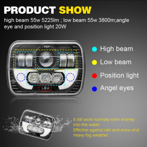 7x6/'/' LED Headlights DRL Lamp for International 5900i 7300 7400 9200 9400 9900