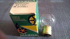 lampe de  projection MAZDA 6V 5AMP BA 21 S-930-3