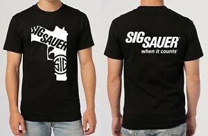 Sig Sauer - When it Counts  T-Shirt Size S M L XL 2XL 3XL
