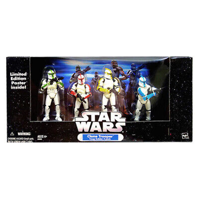 Hasbro Star Wars Clone Trooper 4-Pack White Without Battle Damage Vintage Limite