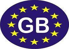 GB Euro oval sticker UK Europe car bike self adhesive Great Britain 12.5cmx9cm