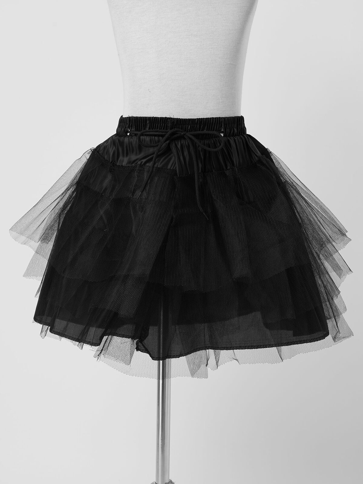 Layered Skirt Tutu Underskirt A-line Pleated Petticoat for Wedding Party Dress
