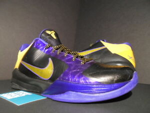 ddda08dc7231 2010 NIKE ZOOM KOBE V 5 LA LAKERS AWAY MVP BLACK DEL SOL PURPLE ...
