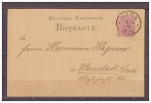 Empire-Allemand-Entier-Postal-P-12-Jena-apres-Neustadt-A-le-Orla-04-10-1882