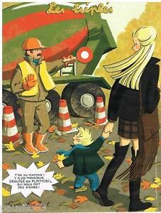 PUBLICITE ADVERTISING 105  2011   NICOLE LAMBERTLES TRIPLES  LE  playmobil