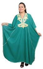 Plus size caftan Dress Women Kaftan Caftans Muslim Long Dress Casual Abaya Green