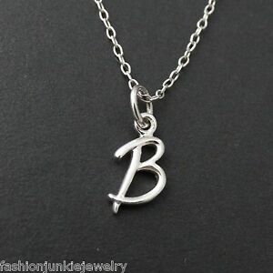 image is loading tiny initial letter b necklace 925 sterling silver
