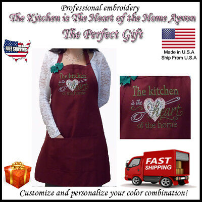 Best /& Coolest Mom Ever Personalized Embroidery Apron Grandma/'s Kitchen Gift !!